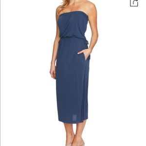 NWT 1.State Strapless Maxi Dress Indigo Depth M